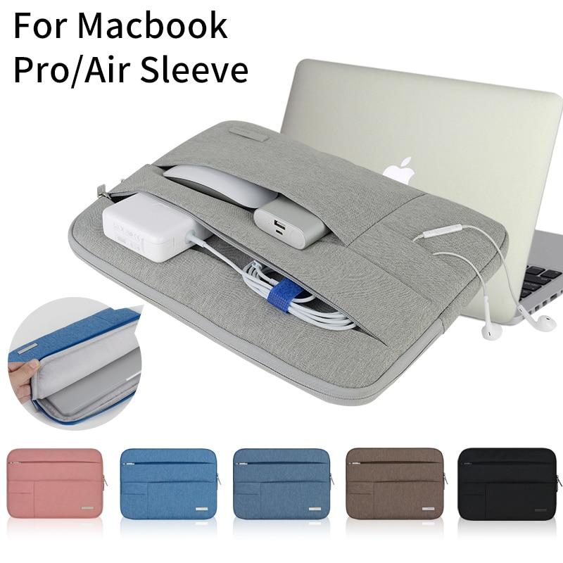 le dernier 207a1 f7c83 € 12.85 20% de réduction|Pochette pour ordinateur portable Multi poche pour  Macbook Pro/Air 11 12 13 14 15 pouces femmes pochette d'ordinateur étui ...