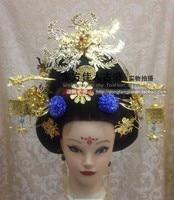 TV Drama Legend of Tang Empress Wumeiniang Hanfu Hair Accessory Set (Hair wig + hair jewelry ) Full Set
