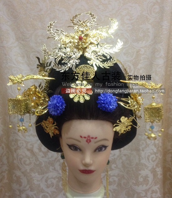 TV Drama Legend of Tang Empress Wumeiniang Hanfu Hair Accessory Set (Hair wig + hair jewelry ) Full Set drama