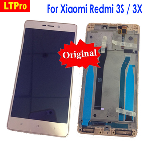 Image 1 - LTPro Orijinal En Iyi Çalışma lcd ekran dokunmatik ekranlı sayısallaştırıcı grup Için Çerçeve ile Xiaomi Redmi 3 3 S 3pro/3X Telefon Parçaları