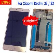 LTPro oryginalny najlepiej działający wyświetlacz LCD montaż digitizera ekranu dotykowego z ramką do Xiaomi Redmi 3 3S 3pro/3X części do telefonu