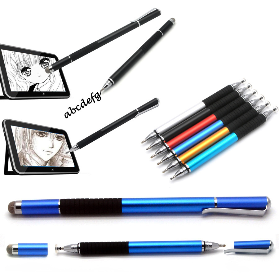Fine Point Round Metal Capacitive Pens Thin Tip Touch Screen Pen Disc Stylus