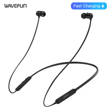 Wavefun Flex Pro Quick Charging AAC Bluetooth Earphone Wireless Headphones IPX5 Waterproof Sports Headset for iPhone xiaomi LG(China)