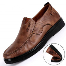 Genuine Leather Shoes Men Casual Shoes Flats Autumn Summer Breathable Shoes Men Loafers Slip On Size 38-48 Brown Chaussure Homme цена