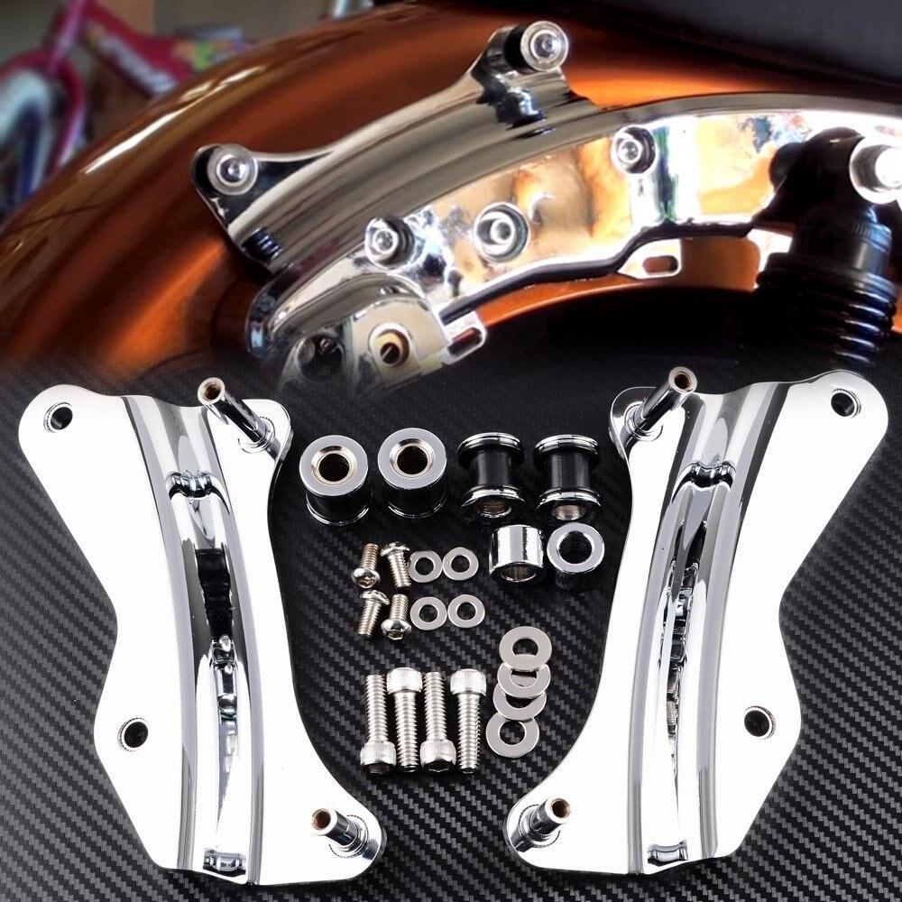 Хром 4 точки стыковки набор оборудования для Harley дорога Кинг-Роуд Глайд 2014 до частей мотоцикла