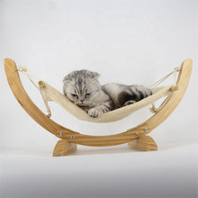 Hot Pet travel swing bed hammock Wood Handmade Cat Bed Hammock