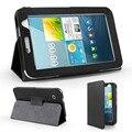 Pcs/lote folio pu leather case capa suporte para samsung galaxy Tab 2 7.0 caso inteligente WiFi 3G livro gt-P3100 gt-P3110 caso