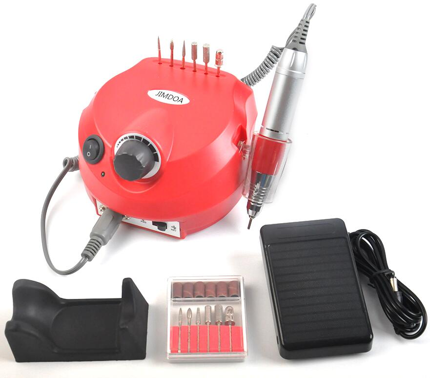 35000 RPM Professional Electric Nail Drill File Manicure Manicure Kit Black Colors Nail Art Tools for Nail Gel Nail Drill professional red colors electric nail art drill file manicure kit 220v eu plug nail tools for nail manicure drill 30000rpm