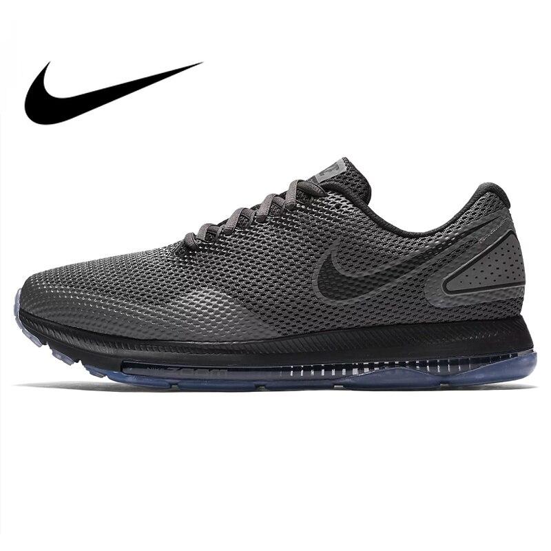 Оригинальный NIKE ZOOM ALL OUT LOW Мужская обувь для бега черная амортизация Нескользящая износостойкая дышащая поддержка AJ0035 002