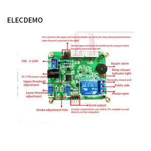 Image 2 - 電圧比較リレーモジュール上下しきい値検出アラーム過電圧保護充電と放電バッテリー