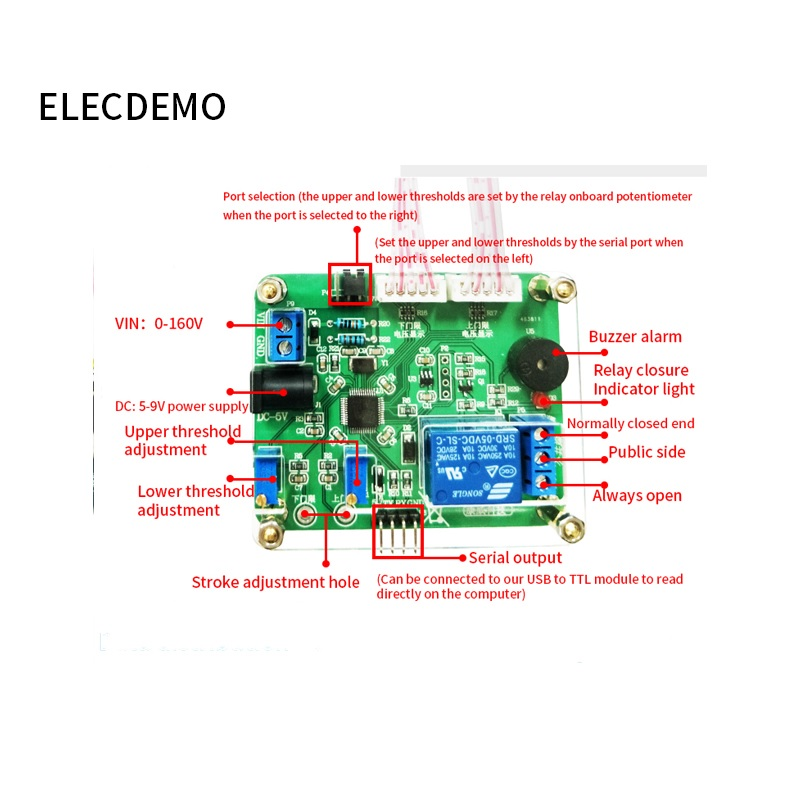Image 2 - Voltage comparison relay module Upper and lower threshold detection alarm Overvoltage protection Charge and discharge Battery-in Demo Board Accessories from Computer & Office