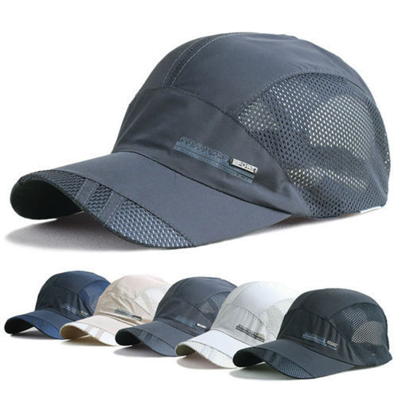 Fashion Mens Summer Outdoor Sport Baseball Hat Running Visor Cap Hot Popular 2019 New Cool Quick Dry Mesh Cap 6 Colors Gorras