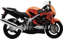 Hot Sales,Modified fairing For Honda CBR600 F4 1999 2000 CBR 600 F4 Orange & Black Fairings (Injection molding)