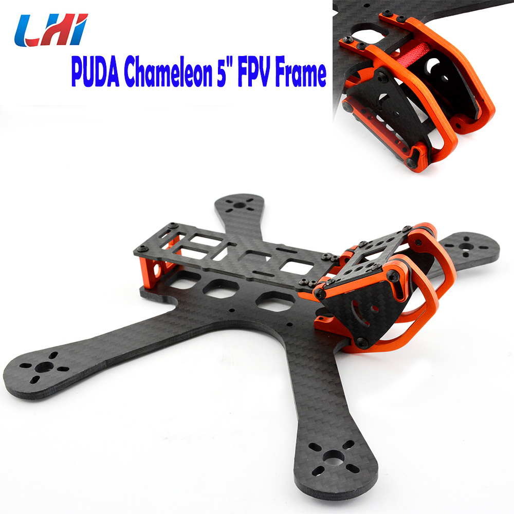 PUDA Chameleon FPV 5 Freestyle Quad Unibody carbon fiber Frame FPV Racing RC Drone For Armattan Chameleon QAV-X QAV-R 220mm mini qav r 220 pure carbon fiber board 220mm 220 quadcopter frame kit 4mm arm for qav r 220 racing drone diy rc through fpv