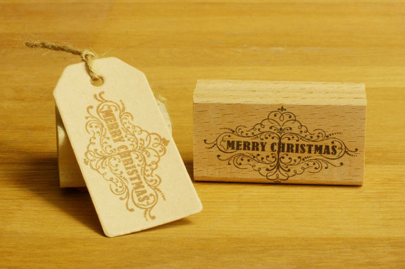 christmas rubber stamps merry christams stamp Card Making ...