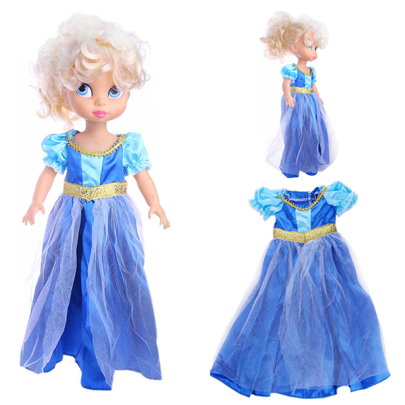 LUCKDOLL 2018 New BJD Blue Doll Dress For 1/6 Doll 28cm Doll Accessories, Kid's Favorite Doll Clothes