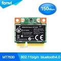 Novo mediatek mt7630e 802.11b/g/n 150 mbps wi-fi sem fio bluetooth 4.0 wlan metade cartão mini pcie para hp m6 envy14 16 sps: 710418-001