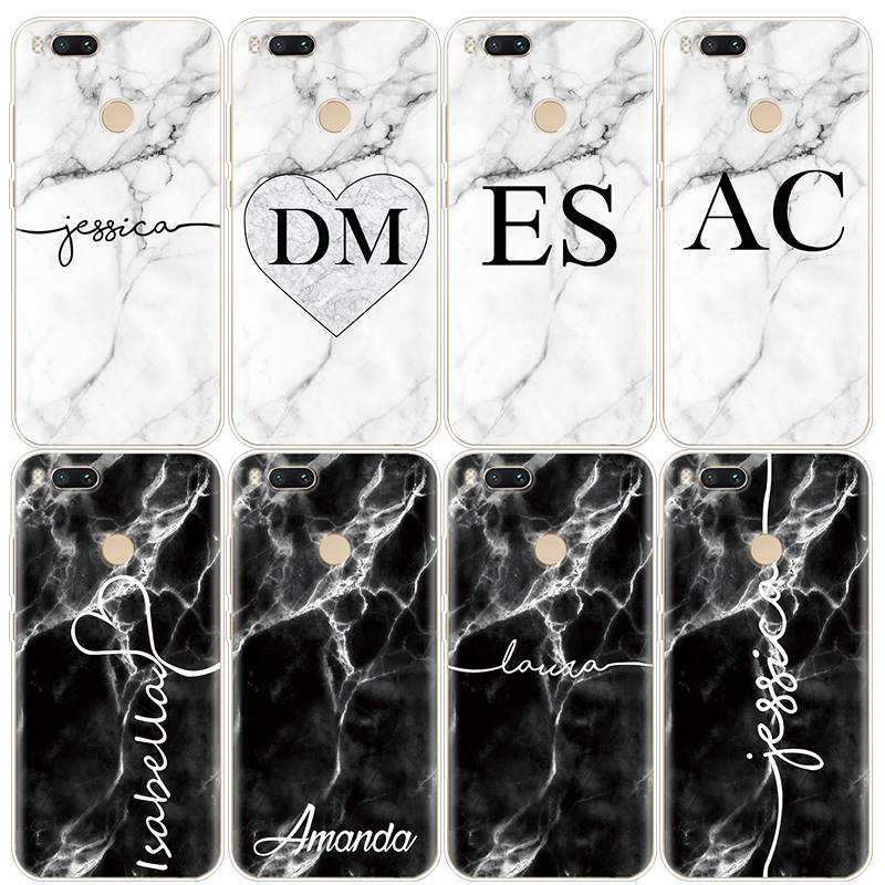 Marble Letter For Xiaomi Redmi S2 3 S 4 4A 5 Plus 6A 6Pro 4X Note 5 Pro 4X 5A 5 6 Pro For Xiaomi Mi A1 A2 5X 6X Mix 2 4 C Case