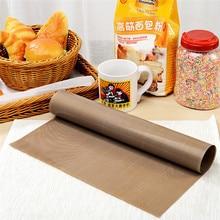 Тефлоновый тепловой пресс-панель многоразовый коврик для выпечки антипригарный крафт лист термостойкий легко чистить барбекю выпечка, Гриль коврики макароны