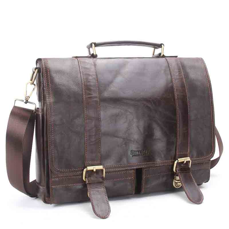 New Europe and the United States fashion retro leather men men portable leisure business documents computer shoulder Messenger aetoo europe and the united states fashion new men s leather briefcase casual business mad horse leather handbags shoulder