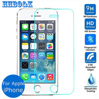 For Apple iphone 5 5s 5c SE Tempered glass Screen Protector 2.5 9h Safety Protective Film on I5 I5S I5C Iphone5 Iphone5S