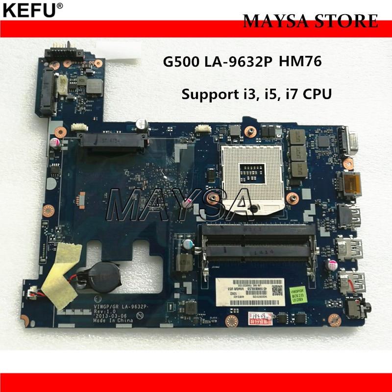 High quality laptop motherboard for Lenovo G500 VIWGP/GR LA-9632P HM76 chipset (support i3 i5 i7 processo)DDR3 100% Fully Tested original viwgp gr la 9632p ddr3 hm70 for lenovo g500 laptop motherboard fully tested