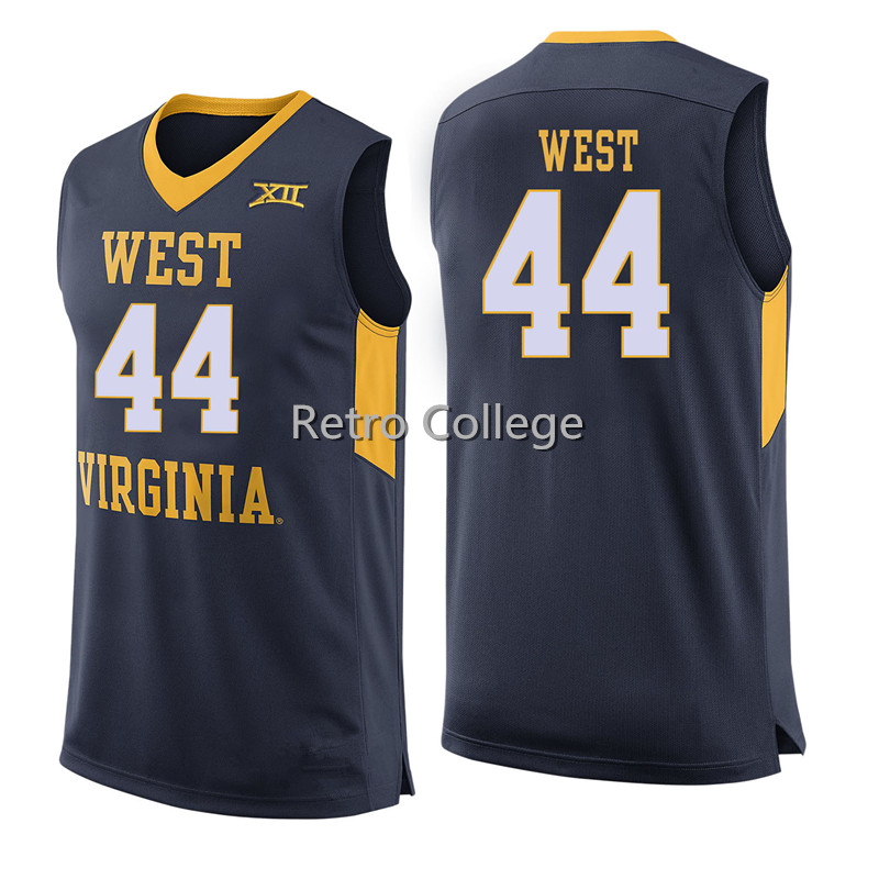 658179155c5 44 JERRY WEST West Virginia Mountaineers College basketball jerseys  Embroidery Stitched any number and name-in Basketball Jerseys from Sports  ...