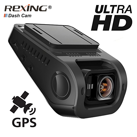 Rexing F8, WIFI ,GPS,Ultra Full HD 2160P, Car Dvr Camera Dash Cam ,Wide Angle, Video Recorder, Night Vision, Cycle Recording xycing gs63h wifi car dvr novatek 96660 car camera gps tracker 4k ultra hd 2160p night vision dash cam 150 degree angle lens