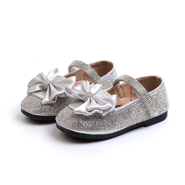 ac22db26fc99 Baby Toddler Girls Gold Silver Glitter Sparkle Party Ballerina Flats Little  Kid Sequin Bling Mary Jane Show Princess Dress Shoes