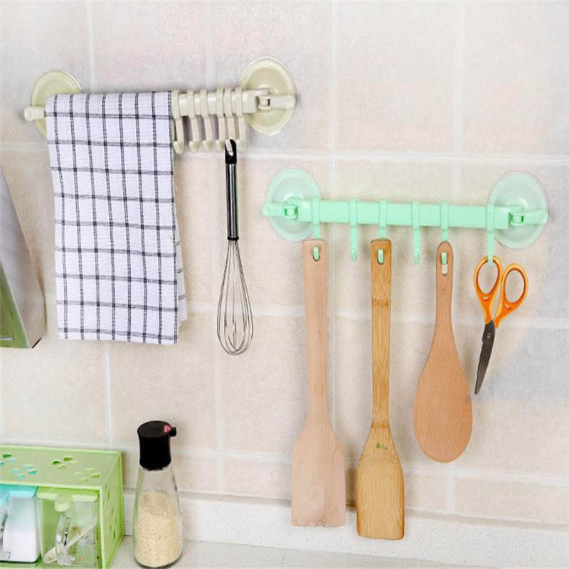 2018 New Kitchen Tools Top Quality Supper Power Vaccum Sucker Stand Hook Kitchen Bathroom Hanger hot sale High Quality C0206