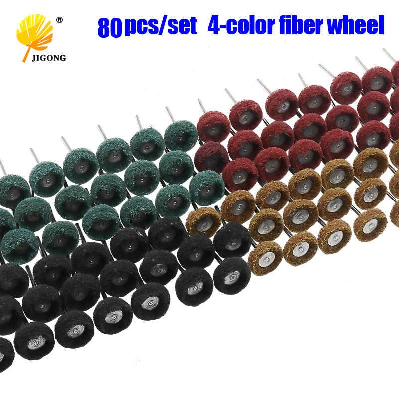 "80Pcs 1/"" Abrasive Wheel Buffing Polishing Wheel Brush Set 25mm For Rotary Tool"