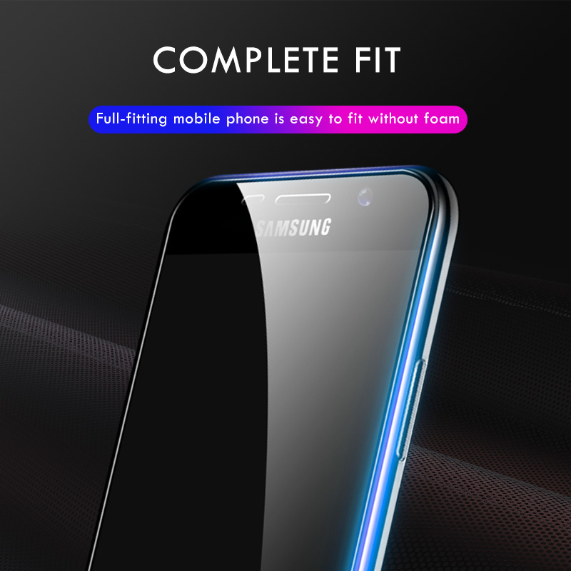 Image 3 - Moopok 2pcs 9H Full Cover Tempered Glass For Samsung Galaxy A3 A5 A7 Screen Protector Film For Samsung A6 Plus A7 A8 2018 Glass-in Phone Screen Protectors from Cellphones & Telecommunications
