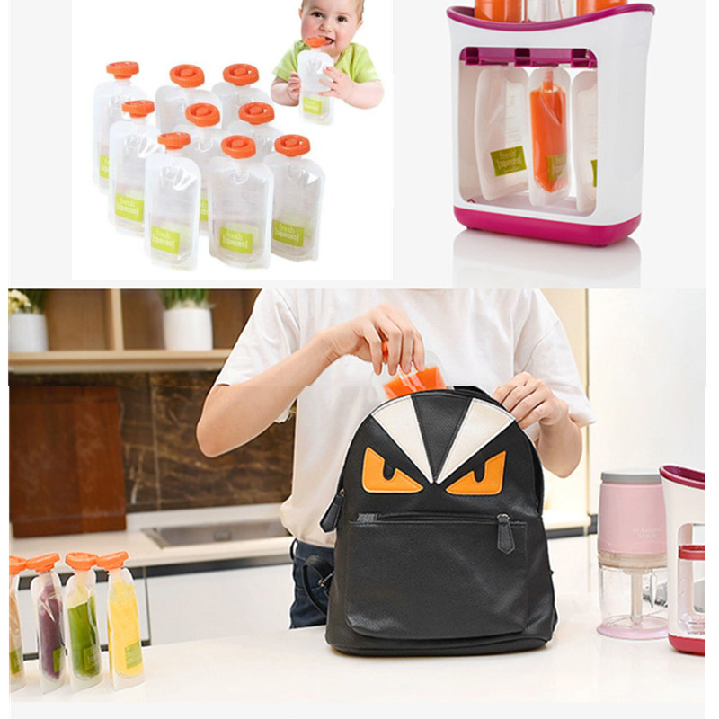 7-Baby Food Maker Make Organic Food For Newborn Fresh Fruit Juice Containers Storage Baby Feeding Maker Kids Insulation Bags