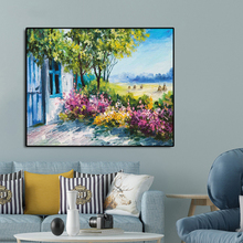 Watercolor House Famous Oil Paintings Wall Art Poster Print Canvas Painting Calligraphy Decor Picture for Living Room Home