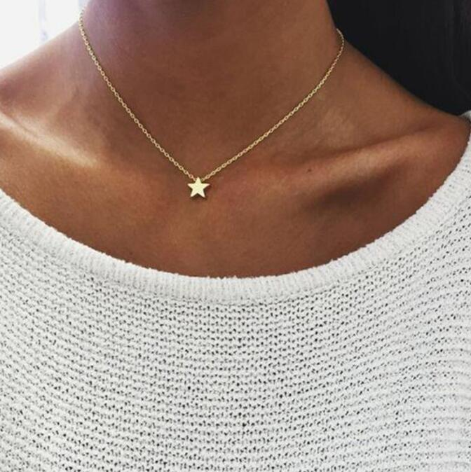 Collar de corazón pequeño para mujer cadena corta forma de corazón colgante collar regalo étnico bohemio gargantilla collar Envío Directo x51