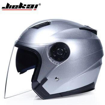 JIEKAI Motorcycle Helmets Electric Bicycle Helmet Open Face Dual Lens Visors Men Women Summer Scooter Motorbike Moto Bike Helmet 12