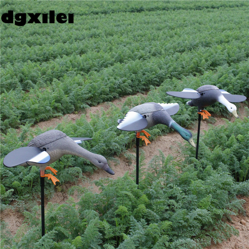 2017 Xilei Outdoor Hunt Ducks Animal Ducks Decoy Trap Plastic Duck Traps for Hunting With Spinning Wings 2017 xilei ducks caller mallard duck decoys call decoy wooden russian wild ducks hunting with spinning wings