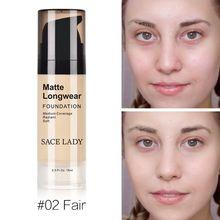 SACE LADY Base Face Liquid Foundation Matte Soft Face Makeup Foundation Professional Skin care Waterproof Coverage Foundation все цены