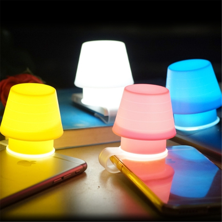 Usb Chargable Small Snail Led Night Light Baby Bedside Cartoon Night Light Blue/yellow/pink/red