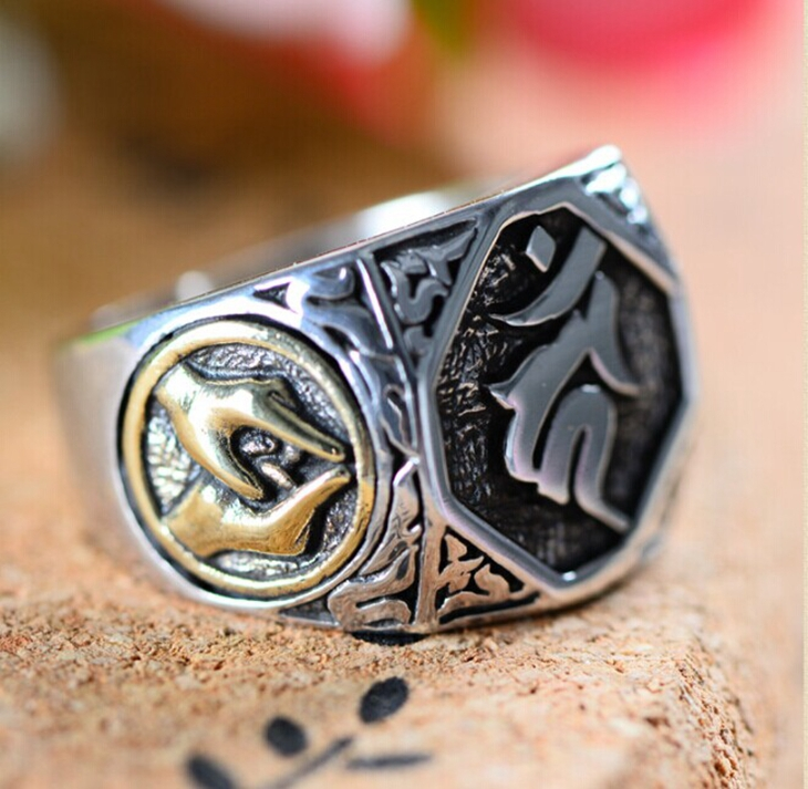 Handmade Thai 925 Silver Tibetan Symbol Ring Thailand Sterling Buddhist Man Jewelry Gift In Rings From Accessories On