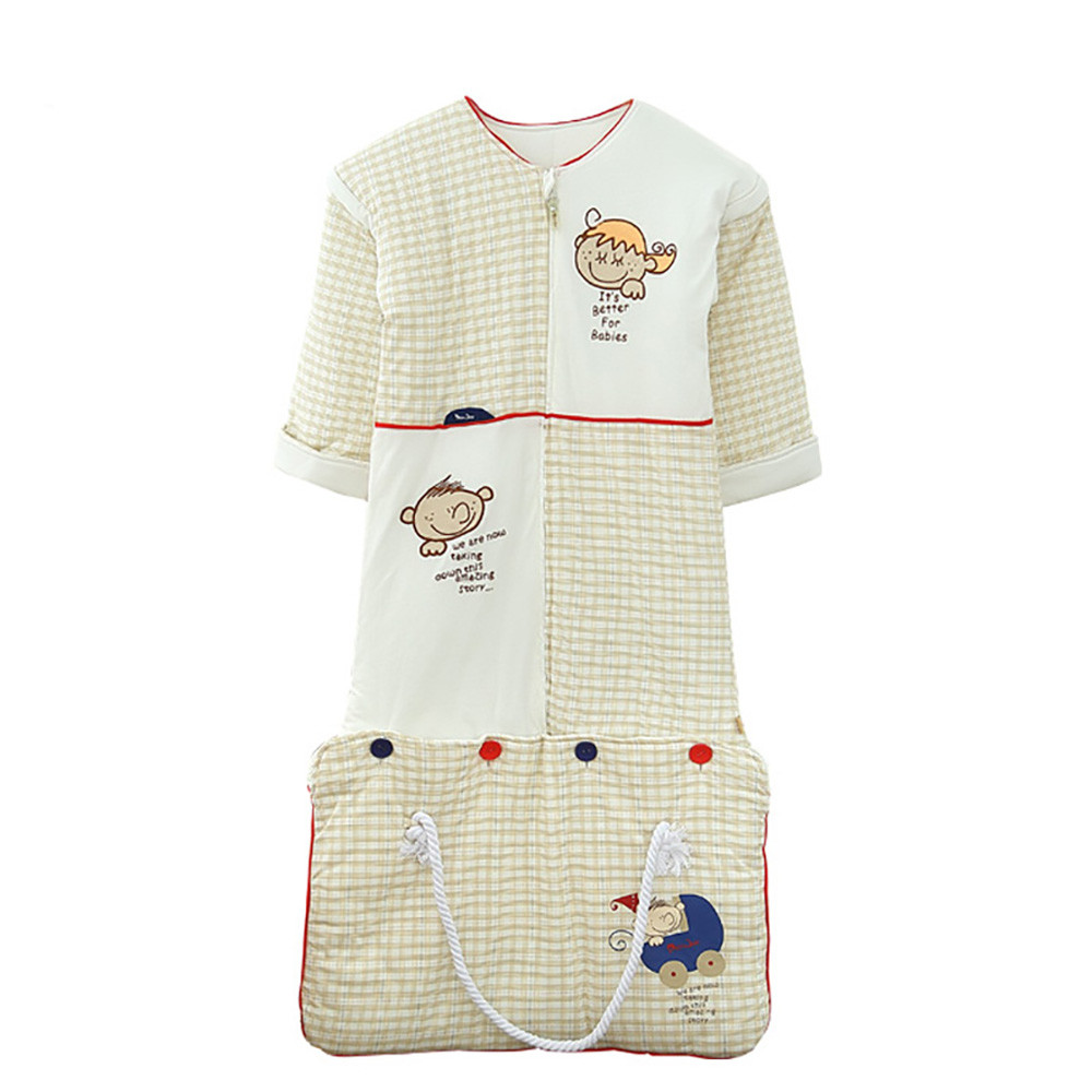 New Baby Sleeping Bag Tiny Cotton Baby Sleep Sack Warn-keeping Baby Sleep Sack Newborn Sleeper цены онлайн