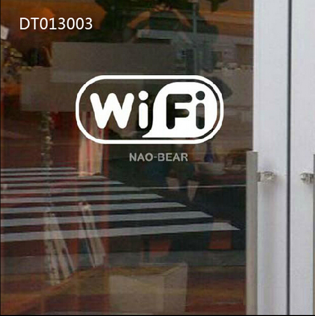 Whole 10pcs Free Wifi Sing Glass Door Window Sticker Mirror In Wall Stickers From Home Garden On Aliexpress Com Alibaba Group