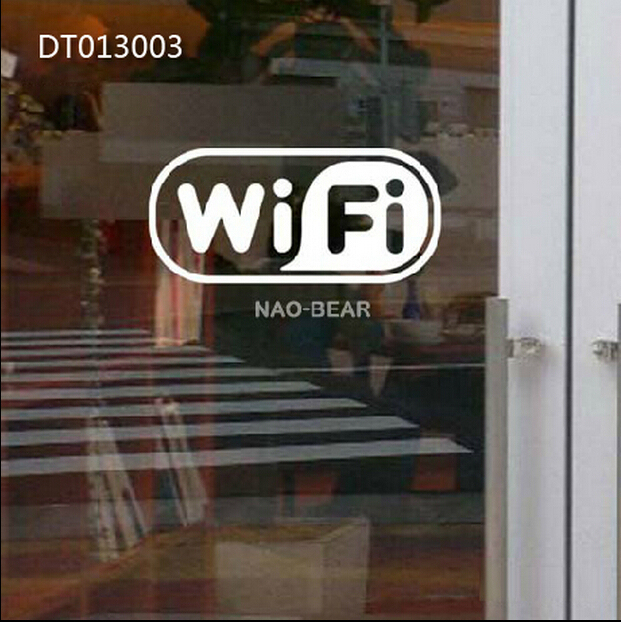 wholesale 10pcs Free WiFi sing glass door window wall Sticker for Cafe/Restaurant/Bar & wholesale 10pcs Free WiFi sing glass door window wall Sticker for ...