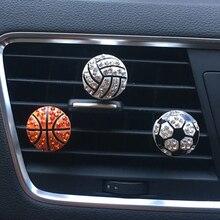 Auto Interior Decor Diamond Soccer Basketball Vent Clip Car Aroma Diffuser