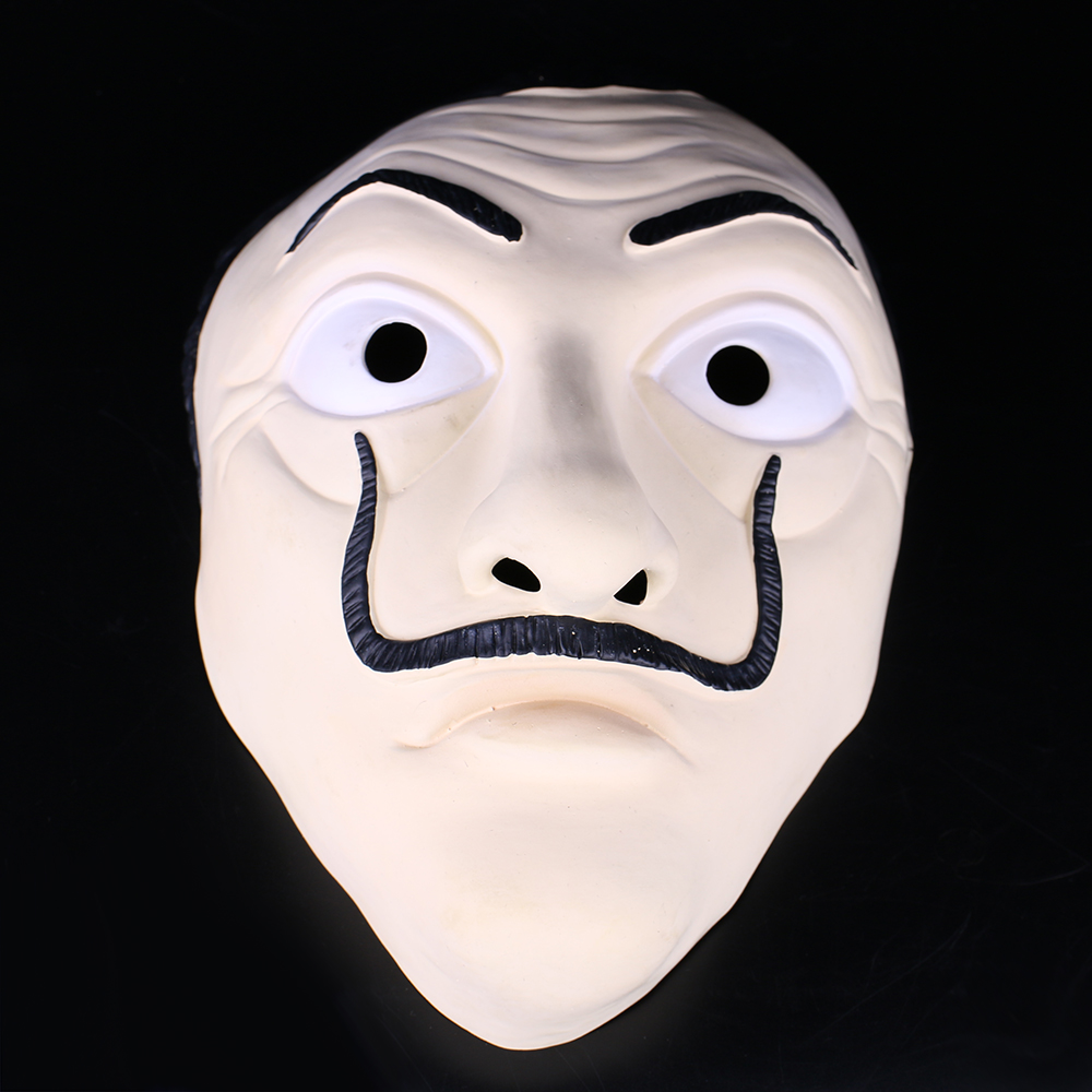 Money Heist The House of Paper La Casa De Papel Mask Latex Men Women Salvador Dali Mask Halloween Carnival Christmas dali Mask 3