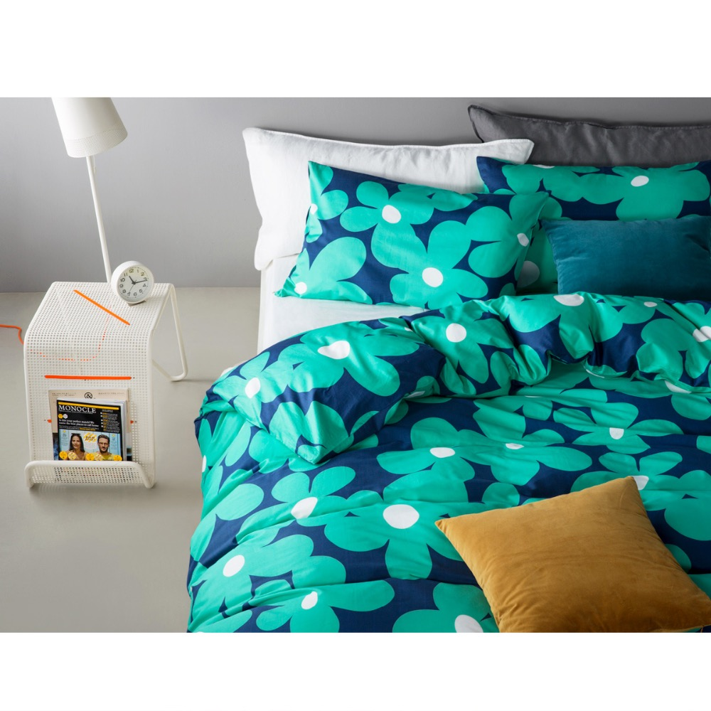 Black and blue bed sheets - Twill 100 Cotton Duvet Cover Set Without Comforter Qualified Floral Printed Reactive Printing Cute Blue Black Pink Bedding Sets