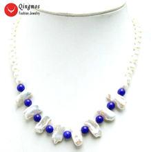 Женское Ожерелье с натуральным жемчугом qingmos 6 7 мм круглой