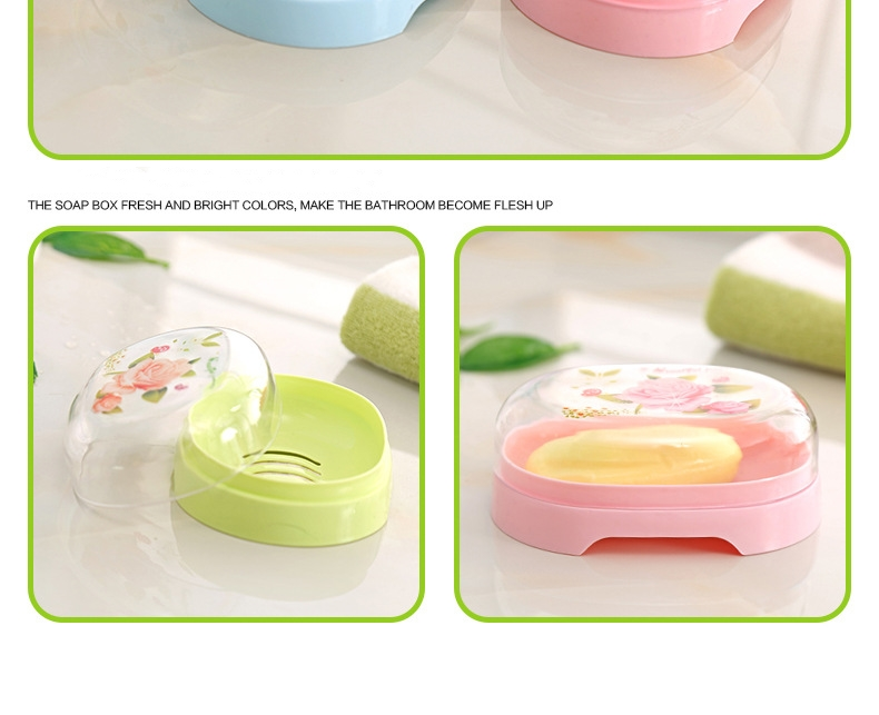Ctree 1pc Household Portable Soap Dishes Bathroom Supplies Band Cover Lek Water Soaps Box Bathroom Accessories High Quality C704 Furniture