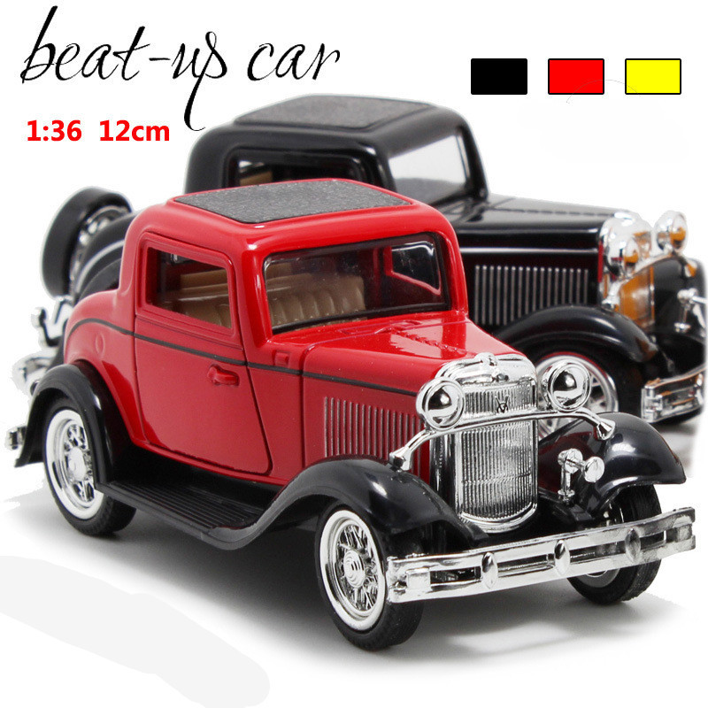 Deals Antique Classic Car 1:36 Scale Alloy Pull Back Model Car, Retro Diecast Cars Toy,Children's Gift,free Shipping