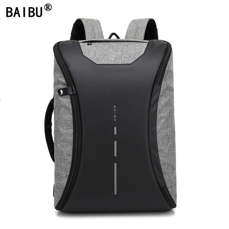 BAIBU Men design Multifunction Backpack Anti-theft